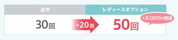 お相手に送れるいいねが毎月30回→50回に